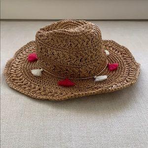 BOGO Pink tassel straw hat